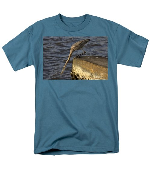 Men's T-Shirt  (Regular Fit) featuring the photograph Stretch - Great Blue Heron by Meg Rousher