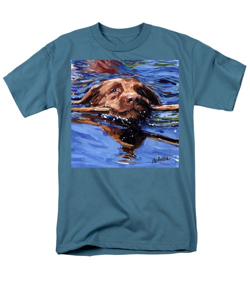 Strong Swimmer Men's T-Shirt  (Regular Fit) by Molly Poole