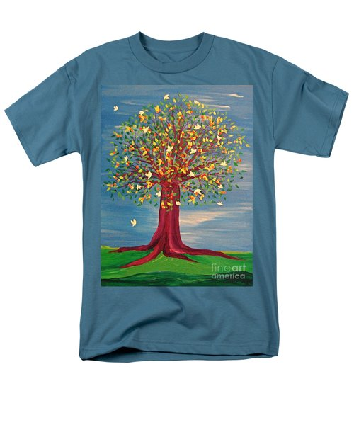 Men's T-Shirt  (Regular Fit) featuring the painting Summer Fantasy Tree by First Star Art