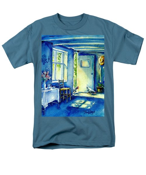 Men's T-Shirt  (Regular Fit) featuring the painting Summer Morning Visitors  by Trudi Doyle