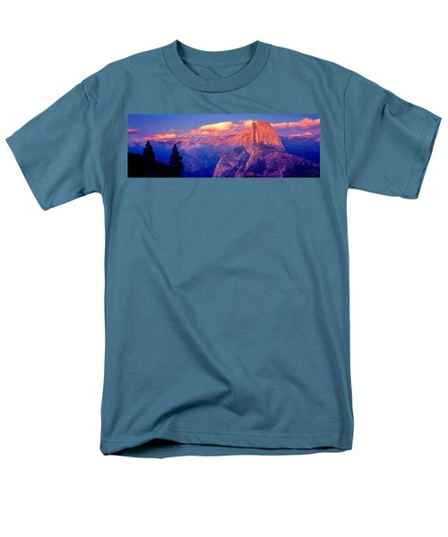 Sunlight Falling On A Mountain, Half Men's T-Shirt  (Regular Fit) by Panoramic Images