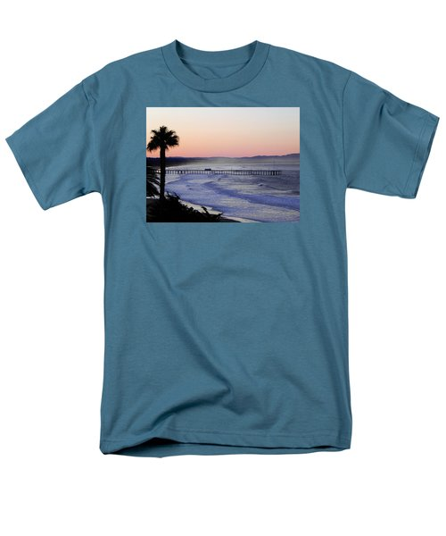 Men's T-Shirt  (Regular Fit) featuring the photograph Sunrise At Pismo Beach by Kathy Churchman