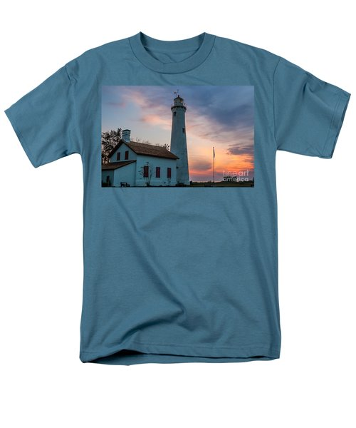 Men's T-Shirt  (Regular Fit) featuring the photograph Sunrise At Sturgeon Point by Patrick Shupert