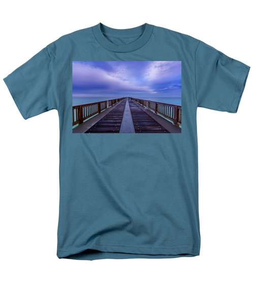Sunrise At The Panama City Beach Pier Men's T-Shirt  (Regular Fit) by David Morefield