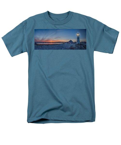 Sunset At Scituate Light Men's T-Shirt  (Regular Fit) by Jeff Folger