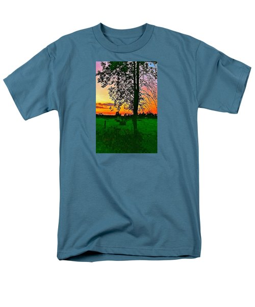 Men's T-Shirt  (Regular Fit) featuring the photograph Sunset Over M-33 by Daniel Thompson