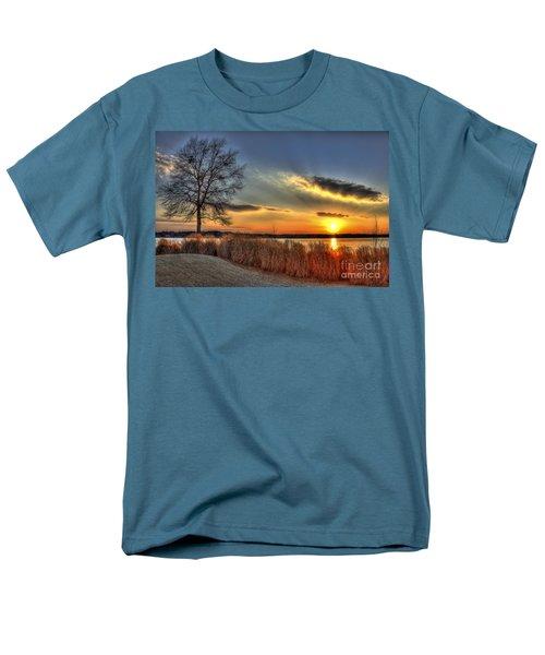 Sunset Sawgrass On Lake Oconee Men's T-Shirt  (Regular Fit) by Reid Callaway