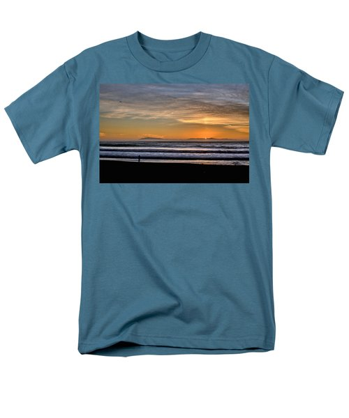 Men's T-Shirt  (Regular Fit) featuring the photograph Surf Fishing by Michael Gordon