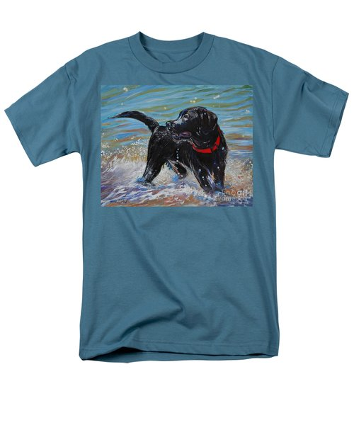 Surf Pup Men's T-Shirt  (Regular Fit) by Molly Poole