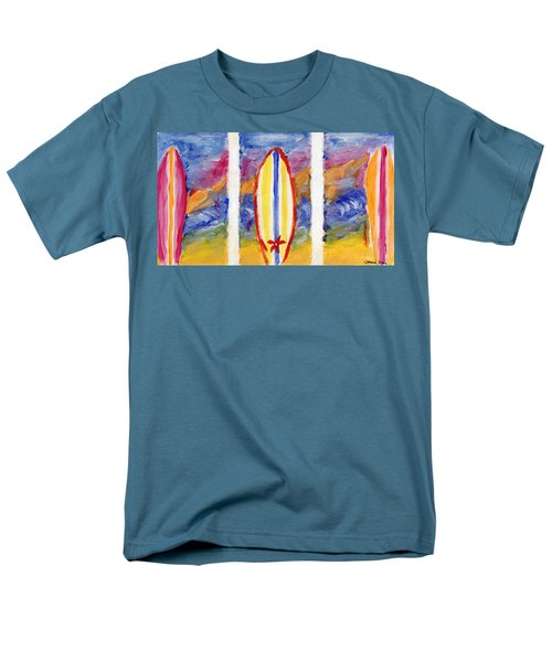 Men's T-Shirt  (Regular Fit) featuring the painting Surfboards 1 by Jamie Frier