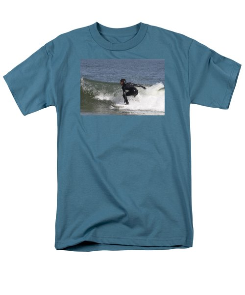 Men's T-Shirt  (Regular Fit) featuring the photograph Surfer Hitting The Curl by John Telfer