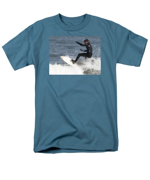 Men's T-Shirt  (Regular Fit) featuring the photograph Surfer On White Water by John Telfer