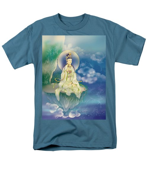 Men's T-Shirt  (Regular Fit) featuring the photograph Sutra-holding Kuan Yin by Lanjee Chee