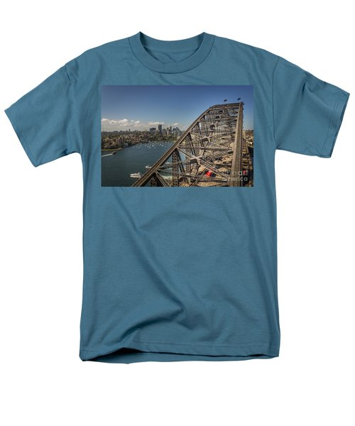 Sydney Harbour Bridge Men's T-Shirt  (Regular Fit) by Jola Martysz