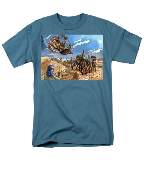 Men's T-Shirt  (Regular Fit) featuring the painting Tammy And The Flying Carpet by Reynold Jay