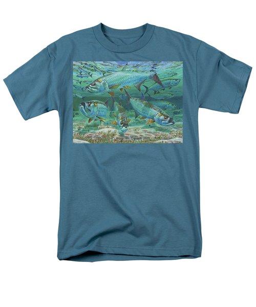 Tarpon Rolling In0025 Men's T-Shirt  (Regular Fit) by Carey Chen