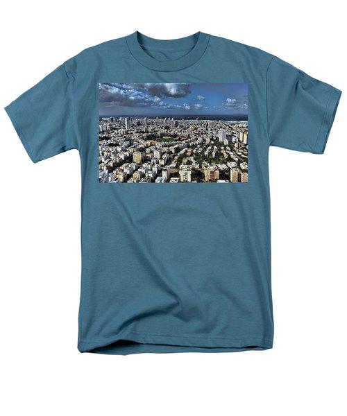 Men's T-Shirt  (Regular Fit) featuring the photograph Tel Aviv Center by Ron Shoshani