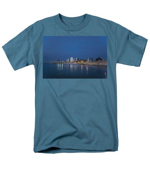 Tel Aviv The Blue Hour Men's T-Shirt  (Regular Fit) by Ron Shoshani