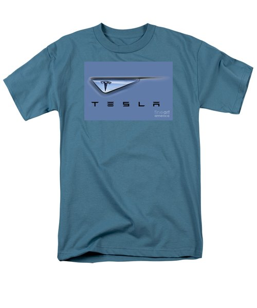 Tesla Model S Men's T-Shirt  (Regular Fit) by David Millenheft