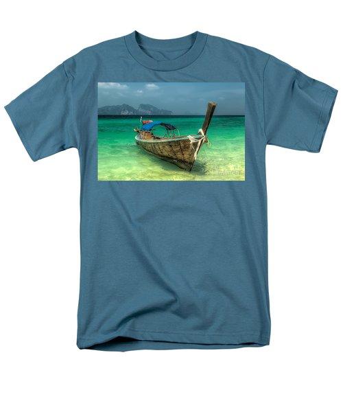 Thai Boat  Men's T-Shirt  (Regular Fit) by Adrian Evans