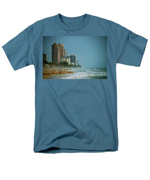 The Beach Near Fort Lauderdale Men's T-Shirt  (Regular Fit) by Eric Tressler