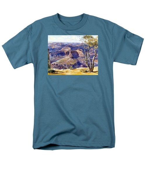 Men's T-Shirt  (Regular Fit) featuring the painting The Canyon by Lee Piper