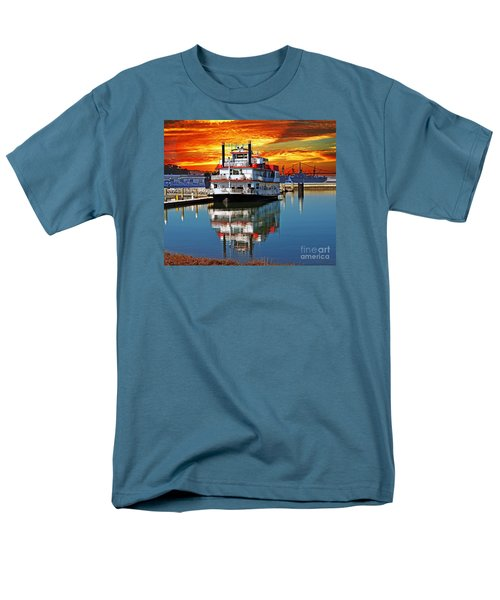 The End Of A Beautiful Day In The San Francisco Bay Men's T-Shirt  (Regular Fit) by Jim Fitzpatrick