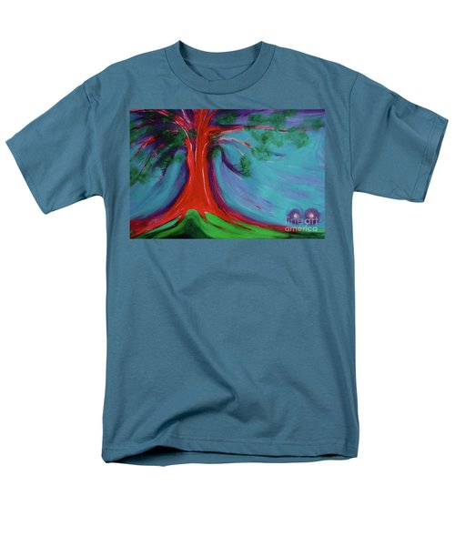 Men's T-Shirt  (Regular Fit) featuring the painting The First Tree By Jrr by First Star Art