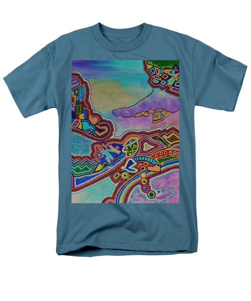 Men's T-Shirt  (Regular Fit) featuring the painting The Genie Is Out Of The Bottle by Barbara St Jean