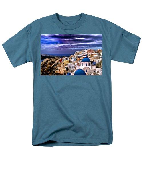 The Greek Isles Santorini Men's T-Shirt  (Regular Fit) by Tom Prendergast