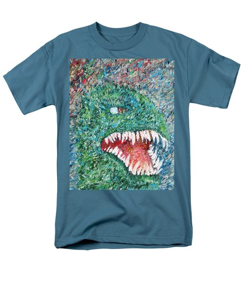 The Might That Came Upon The Earth To Bless - Godzilla Portrait Men's T-Shirt  (Regular Fit) by Fabrizio Cassetta