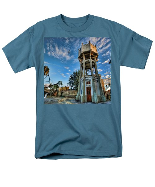 Men's T-Shirt  (Regular Fit) featuring the photograph The Old Water Tower Of Tel Aviv by Ron Shoshani