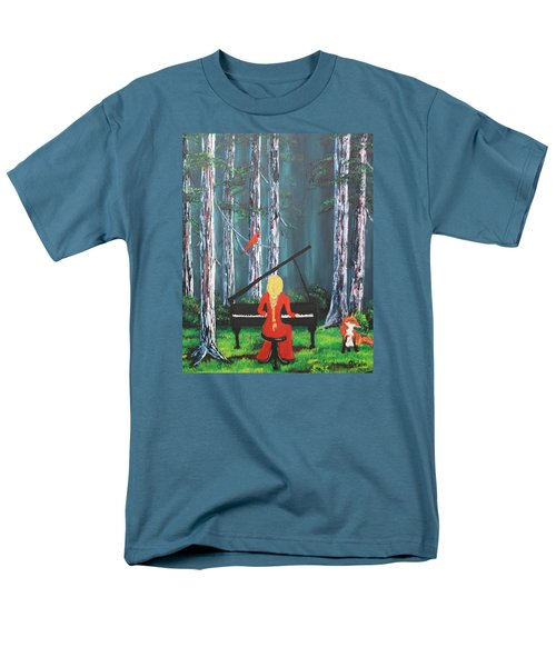 The Pianist In The Woods Men's T-Shirt  (Regular Fit) by Patricia Olson
