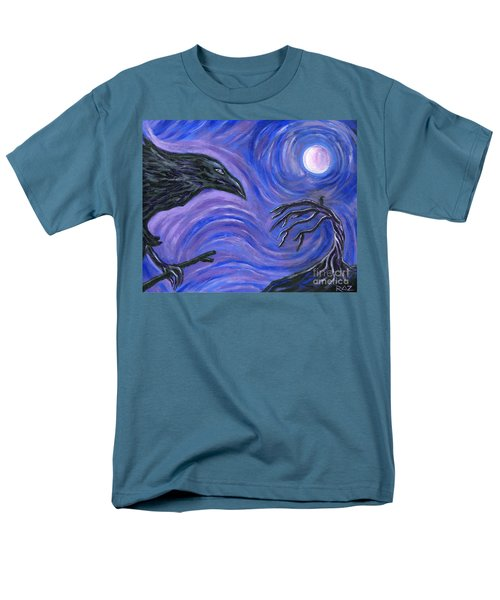 Men's T-Shirt  (Regular Fit) featuring the painting The Raven by Roz Abellera Art