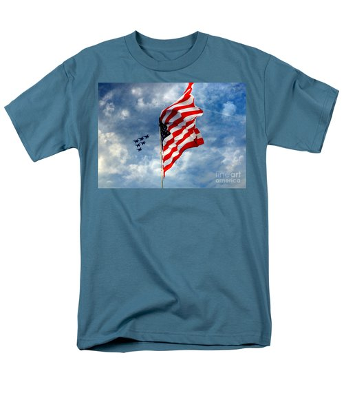The Star Spangled Banner Yet Waves Men's T-Shirt  (Regular Fit) by Lydia Holly