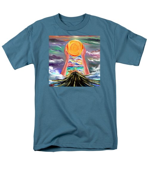 Men's T-Shirt  (Regular Fit) featuring the drawing The Sun Will Shine Again by Lori  Lovetere