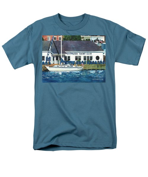 Men's T-Shirt  (Regular Fit) featuring the painting The Yacht Club by LeAnne Sowa