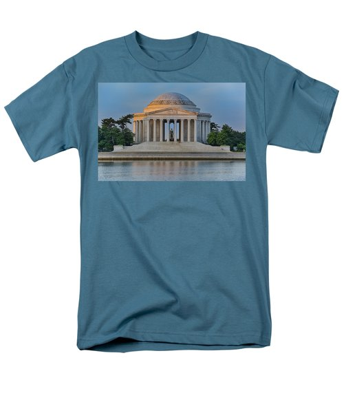 Men's T-Shirt  (Regular Fit) featuring the photograph Thomas Jefferson Memorial At Sunrise by Sebastian Musial