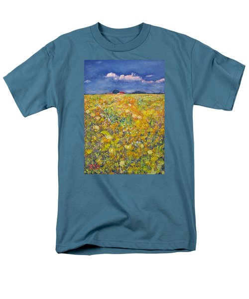 tiptoe Through Summer Meadow Men's T-Shirt  (Regular Fit) by Richard James Digance