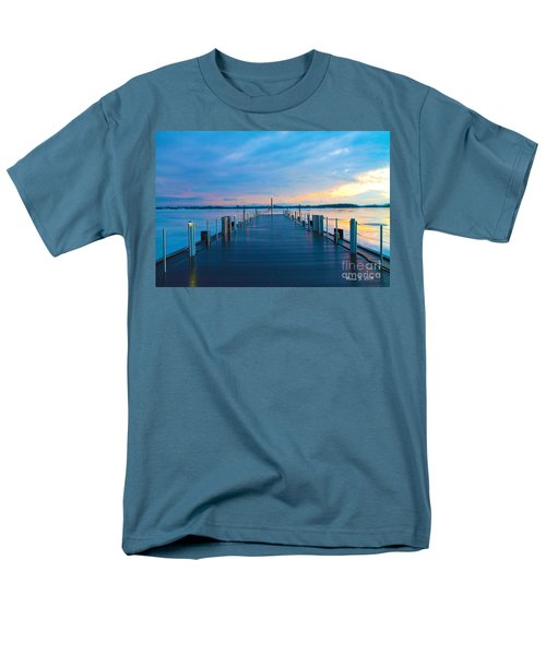 Men's T-Shirt  (Regular Fit) featuring the photograph Toronto Pier During A Winter Sunset by Nina Silver