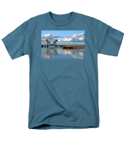 Train Bridge Men's T-Shirt  (Regular Fit) by Chris Anderson