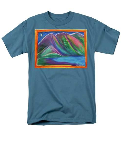 Men's T-Shirt  (Regular Fit) featuring the painting Travelers Mountains By Jrr by First Star Art