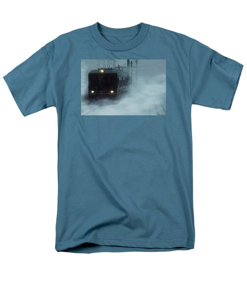 Traveling In The Snow... Men's T-Shirt  (Regular Fit) by Vittorio Chiampan