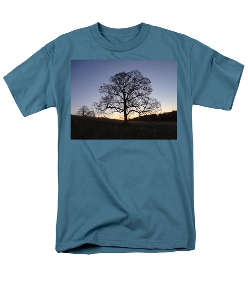 Tree At Dawn Men's T-Shirt  (Regular Fit) by Michael Porchik