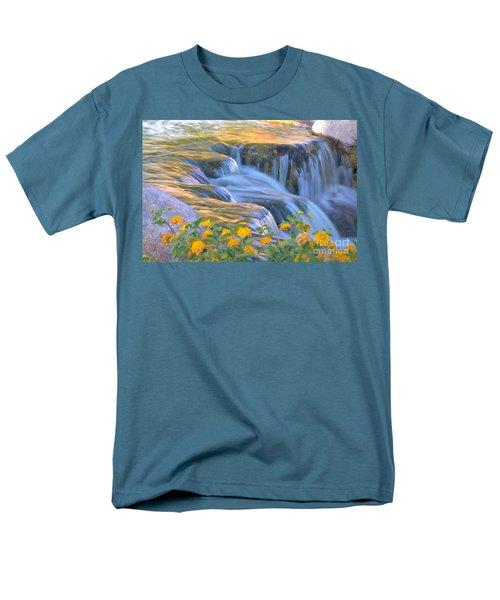 Tumbling Waters Men's T-Shirt  (Regular Fit) by Deb Halloran