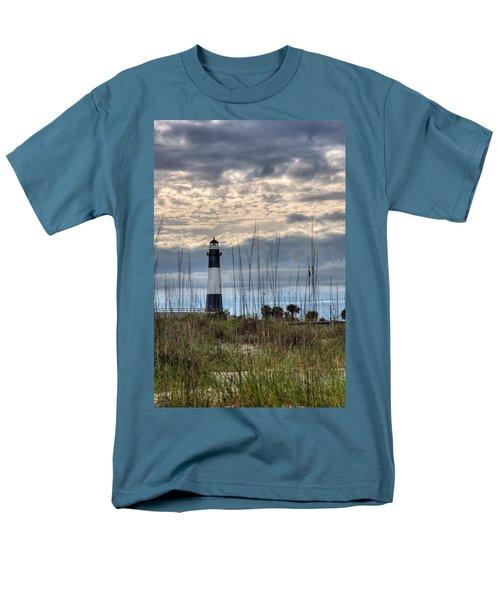 Tybee Light Men's T-Shirt  (Regular Fit) by Peter Tellone