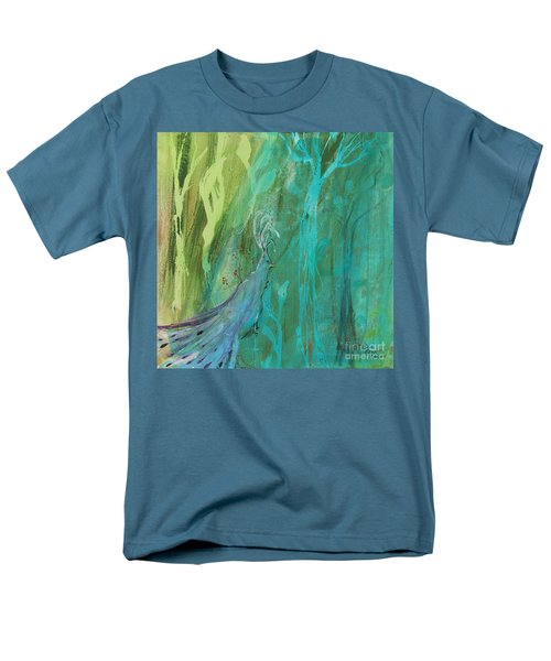 Men's T-Shirt  (Regular Fit) featuring the painting Undercover Peacock by Robin Maria Pedrero