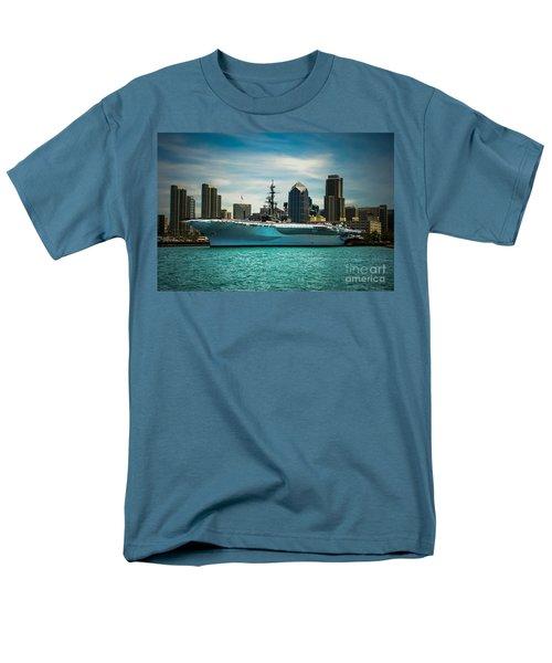 Uss Midway Museum Cv 41 Aircraft Carrier Men's T-Shirt  (Regular Fit) by Claudia Ellis