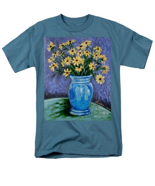 Van Gogh-ish Flowers In A Vase Men's T-Shirt  (Regular Fit)