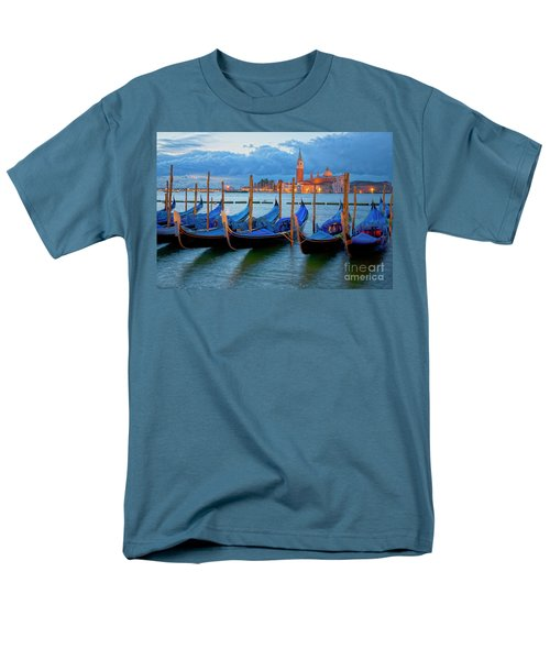 Venice View To San Giorgio Maggiore Men's T-Shirt  (Regular Fit) by Heiko Koehrer-Wagner